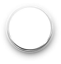 White round background vector image