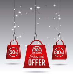 Hot price shopping design vector