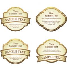 label set vector image