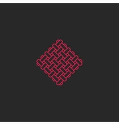 Sacred geometric rectangles shape pattern logo vector image