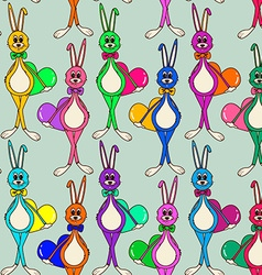 Seamless pattern of cute rabbits vector image vector image