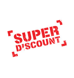 super discount rubber stamp vector image vector image