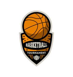 basketball professional championship vintage label vector image