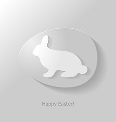 Bunny in egg vector