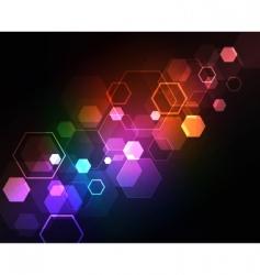 neon squares design vector image vector image