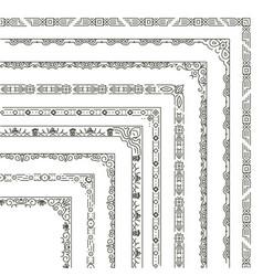 ornamental frame corners and borders vector image