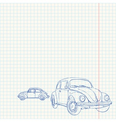 Retro Car Drawing vector image vector image