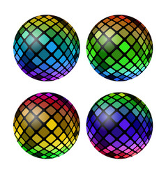 colored mosaic ball set vector image