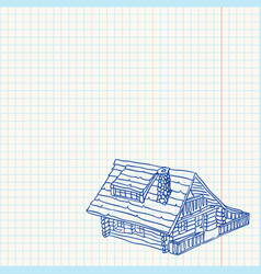 Cottage Handmade vector image vector image