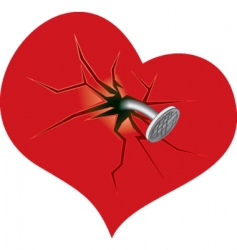 damaged heart vector image vector image