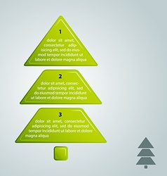green christmas tree infographic style vector image vector image