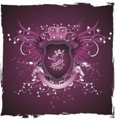 griffin's head emblem vector image vector image