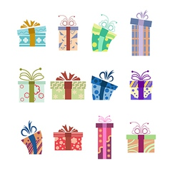 Icons with presents vector image vector image
