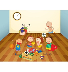 kids playing in a room vector image vector image