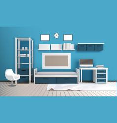 private room realistic interior vector image vector image