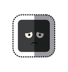 sticker square colorful shape emoticon vector image vector image