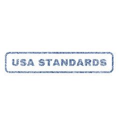 usa standards textile stamp vector image vector image