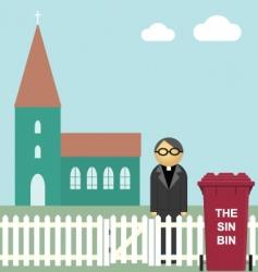 church sin bin vector image vector image