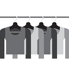 Sleeves Shirts With Hangers vector image