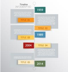 timeline vector image vector image