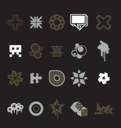 urban design icons vector image vector image
