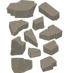 A set of stones cartoon vector