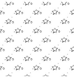 Abstract star pattern A seamless background vector image