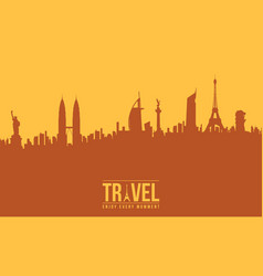 Background of traveling design collection vector