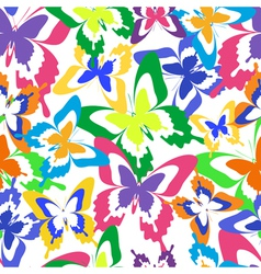 Background seamless pattern colorful butterfly vector image