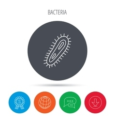 Bacteria icon Medicine infection symbol vector image