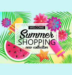big summer sale background for banner wallpaper vector image