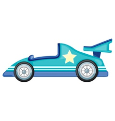 blue car vector image