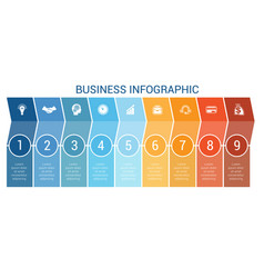 business infographic design for timeline nine vector image