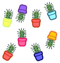 Cactus seamless 3 vector