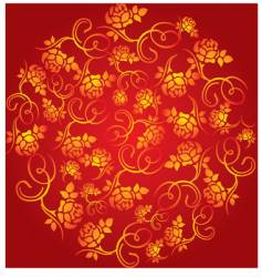 China flower pattern vector