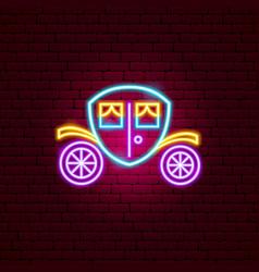 coach neon sign vector image