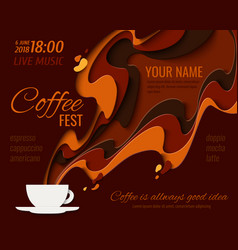 Coffee menu background vector