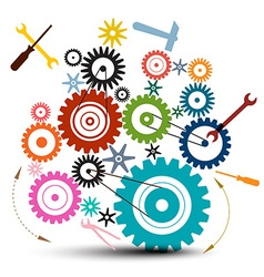 Cog - Gear - Cogs - Gears and Tools Isolated vector image