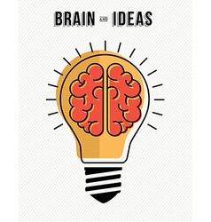 Concept of brain and ideas innovation in business vector image