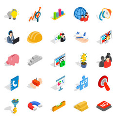 Conception icons set isometric style vector
