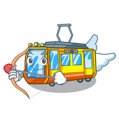 cupid electric train in character shape vector image