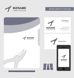 cutter business logo file cover visiting card and vector image