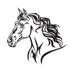 Decorative portrait of horse 8 vector