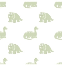 Dinosaurs Seamless white background vector image