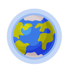 Earth planet solar system element flat style vector