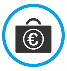 Euro Baggage Rounded Icon vector