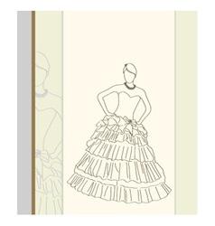 Fashion pose vector image