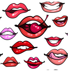 female sexy lips seamless pattern fashion print vector image