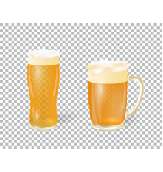 festival of beer a light beer in a mug and a vector image