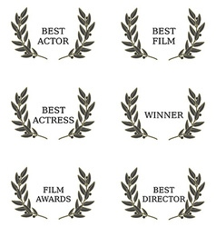 Film awards vector image